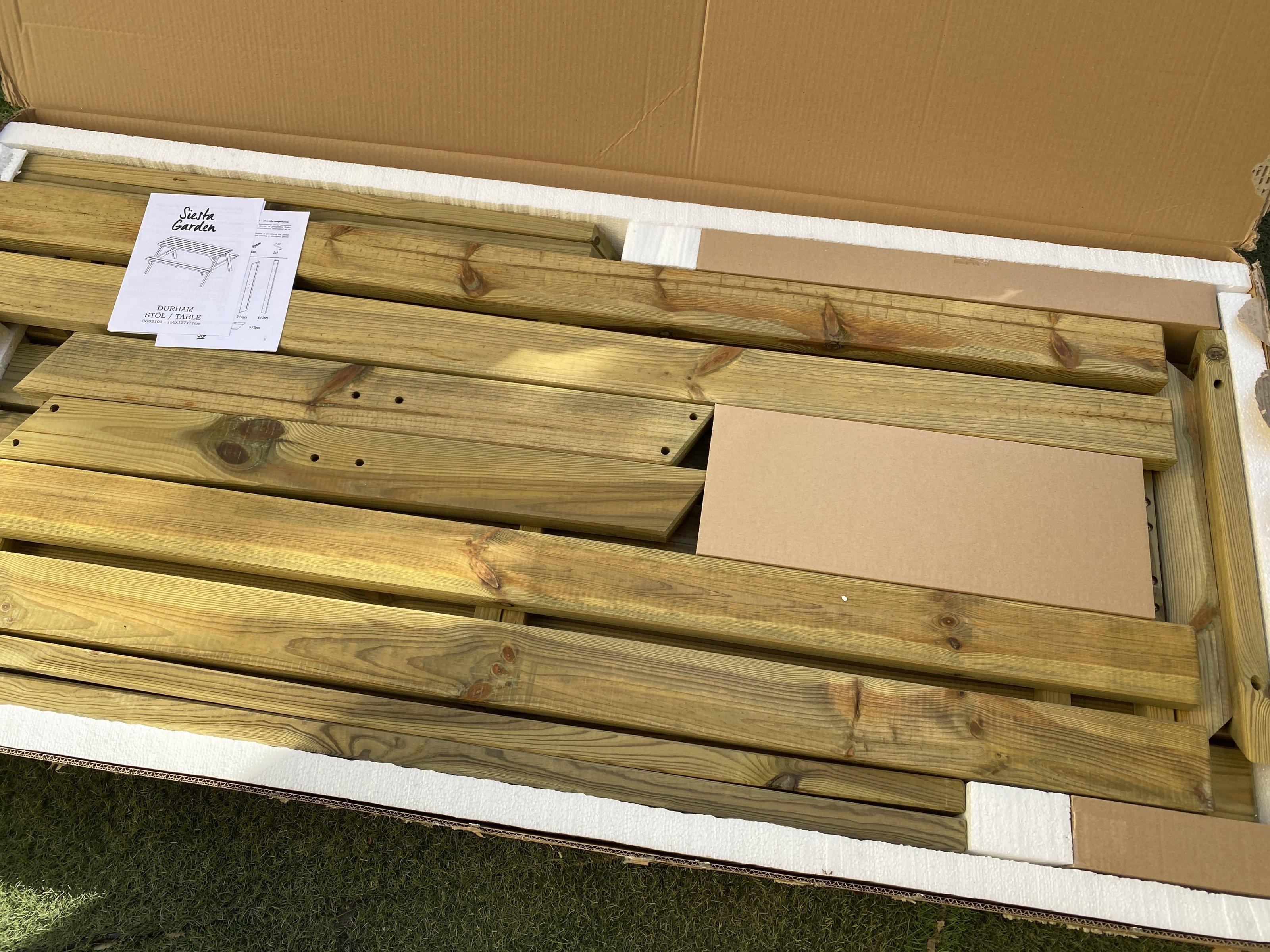 Wooden pik nik bench 1