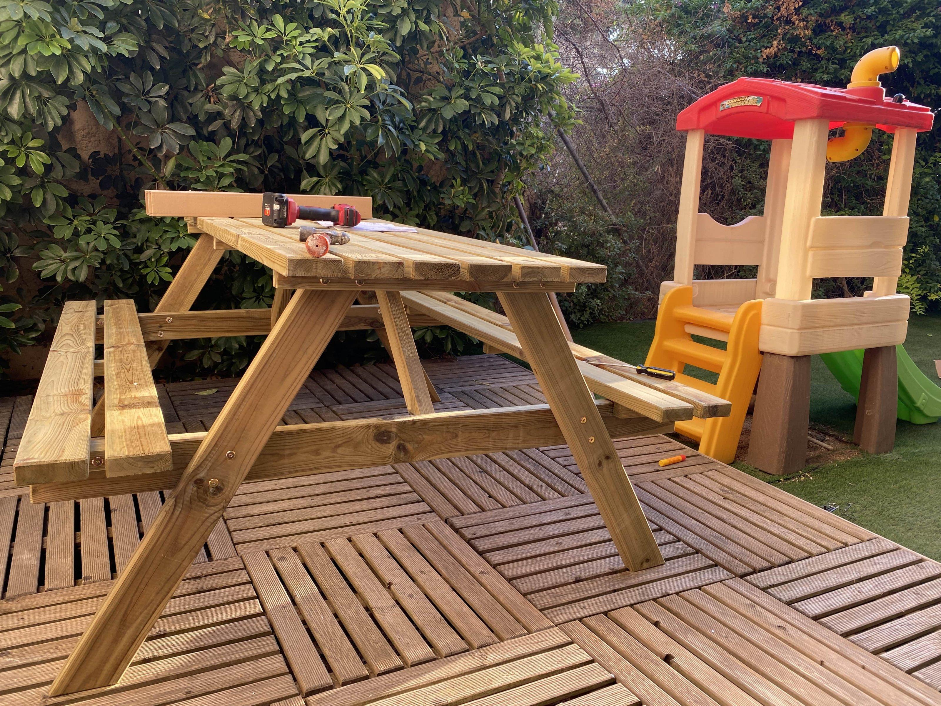 Wooden pik nik bench 5