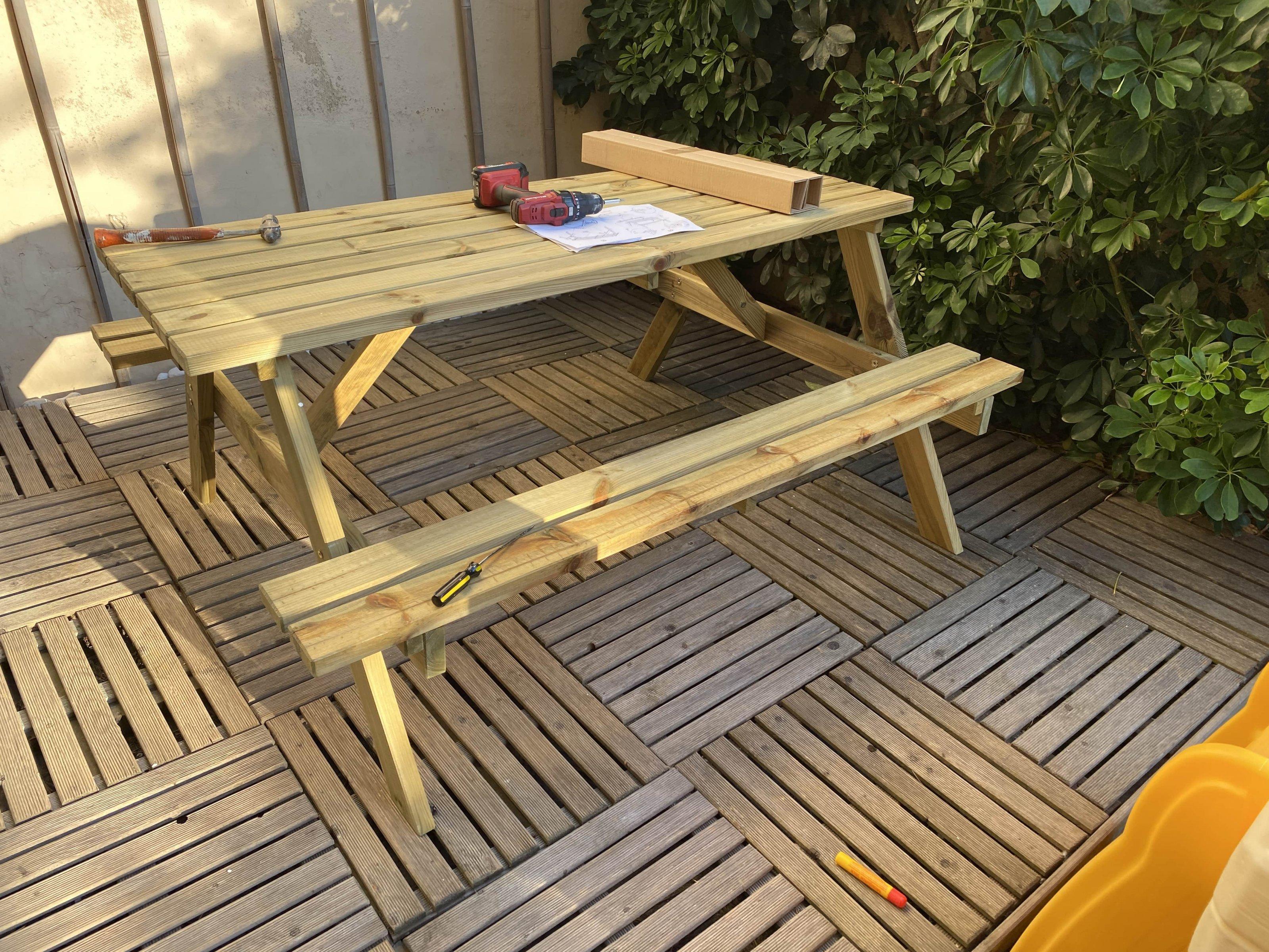Wooden pik nik bench 4