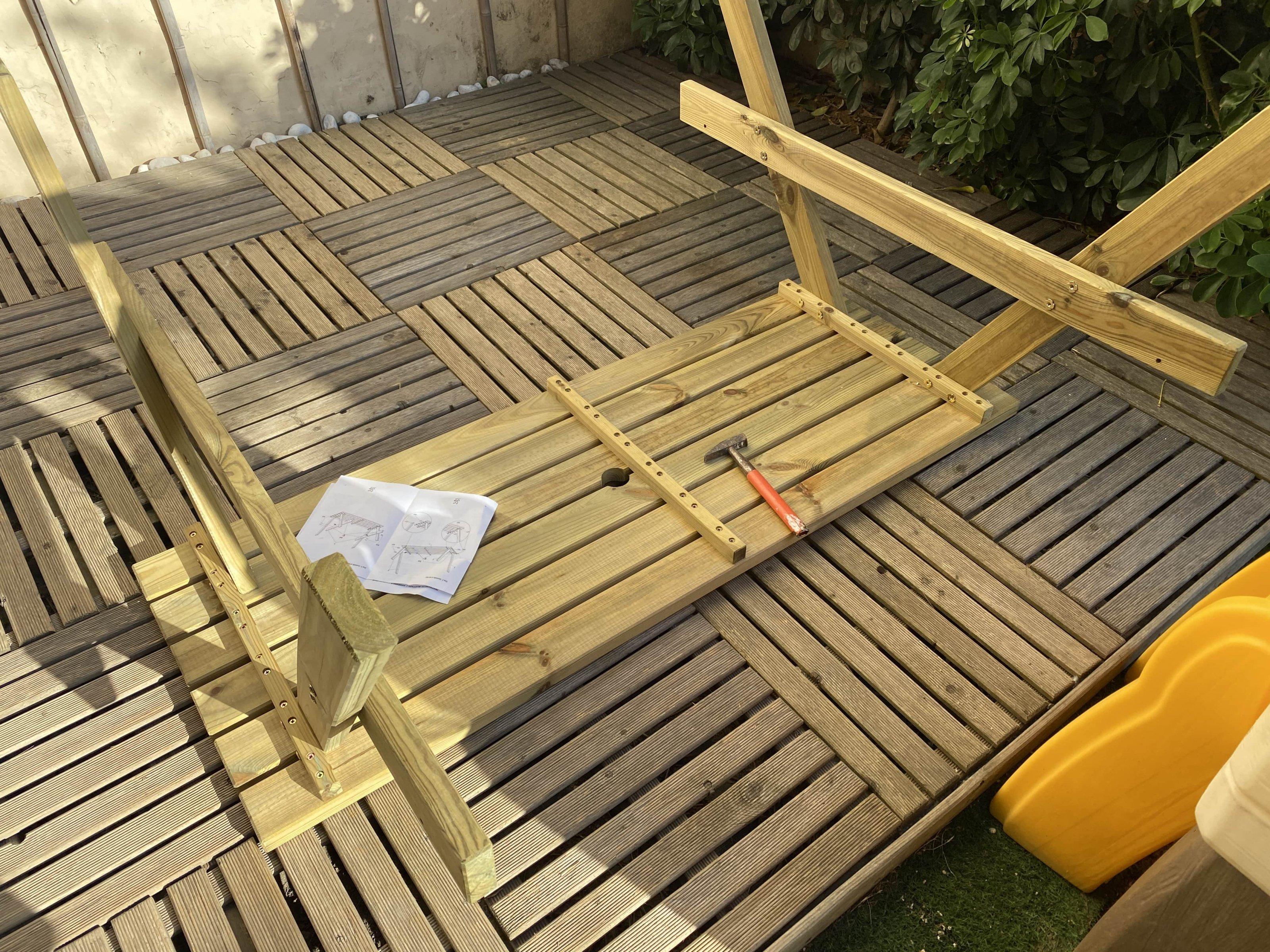 Wooden pik nik bench 3